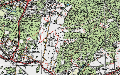 Old map of Windsor Ride in 1919