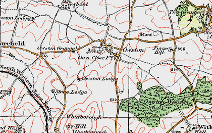 Old map of Whatborough Hill in 1921