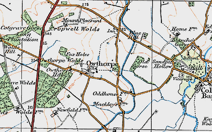 Old map of Wolds Hill in 1921