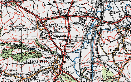 Old map of Windmill Hill in 1923