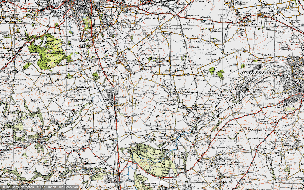 Old Map of Oxclose, 1925 in 1925