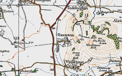Old map of Woolstone Hill in 1919