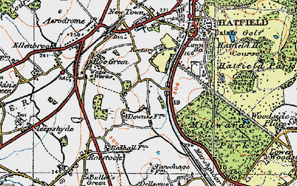 Old map of Oxlease in 1920