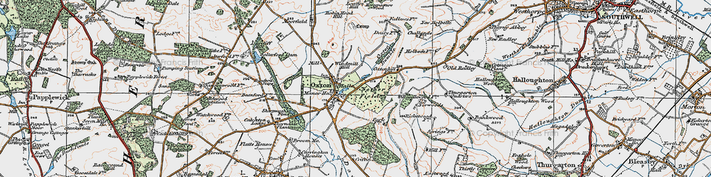 Old map of Windmill Hill in 1921