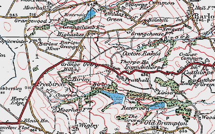 Old map of Oxton Rakes in 1923