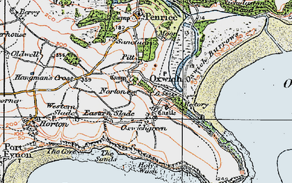 Old map of Oxwich in 1923
