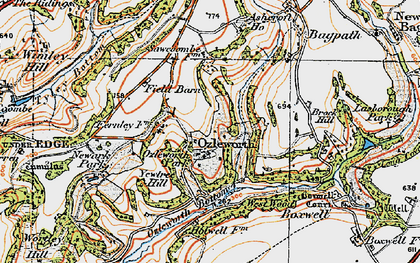 Old map of Ozleworth in 1919