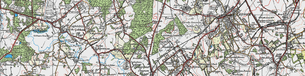 Old map of Wood Field in 1920