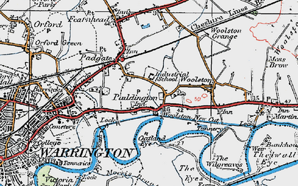 Old map of Paddington in 1923
