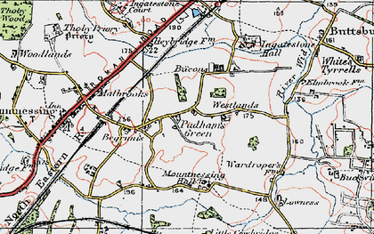 Old map of Lawness in 1920