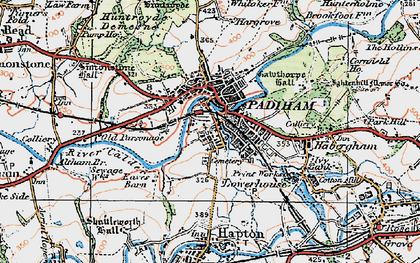 Old map of Padiham in 1924