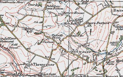 Old map of Yates Ho in 1925