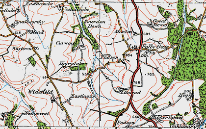 Old map of Westacombe in 1919