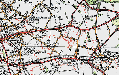 Old map of Page Moss in 1923