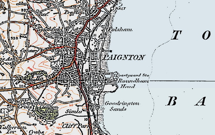Old map of Paignton in 1919