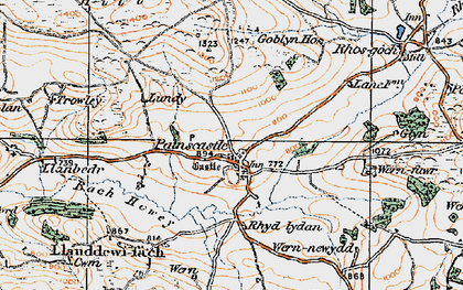 Old map of Bachawy in 1919
