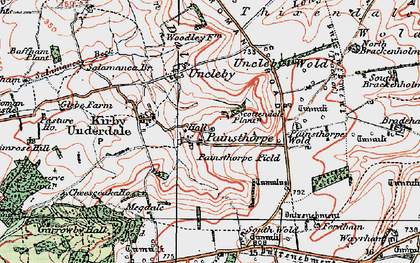 Old map of Admiral Plantn in 1924
