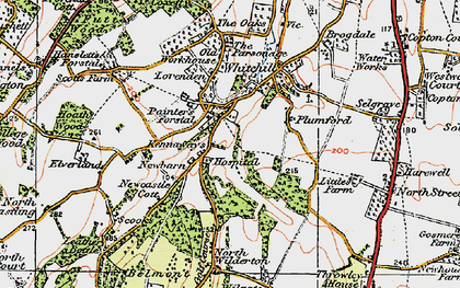 Old map of Painter's Forstal in 1921