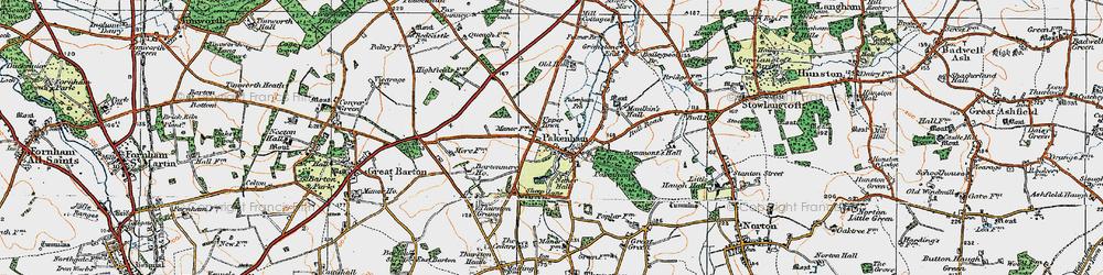 Old map of Pakenham in 1920