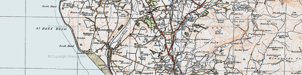 Old map of Whangs in 1925