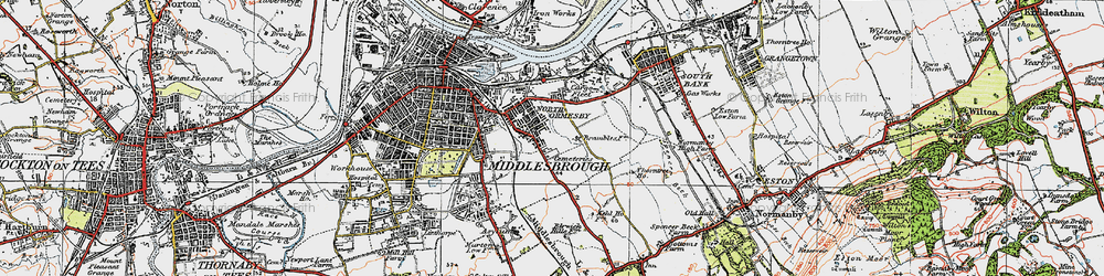 Old map of Pallister in 1925