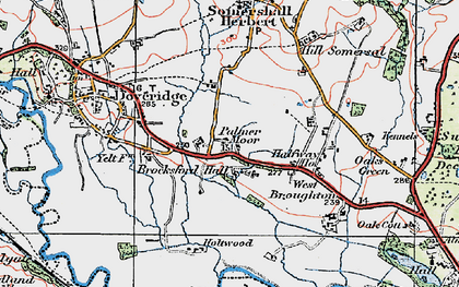 Old map of Palmer Moor in 1921