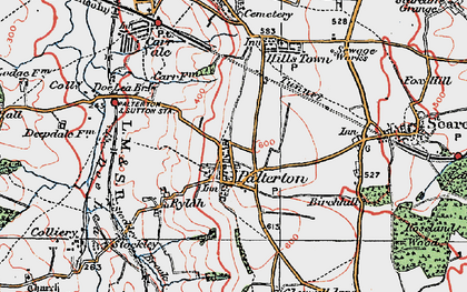 Old map of Palterton in 1923