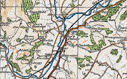 Old map of Alltyrynys in 1919