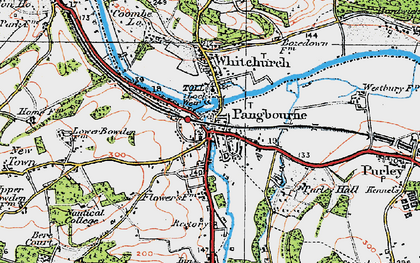 Old map of Pangbourne in 1919