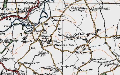 Old map of Ashen Hall in 1921