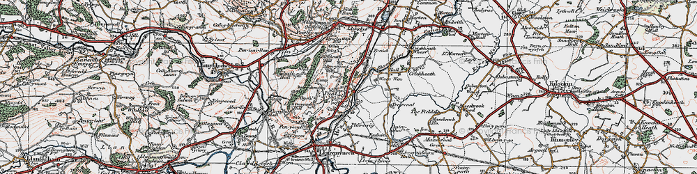Old map of Pant in 1921