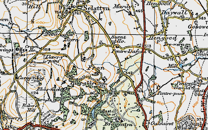 Old map of Lawr-y-pant in 1921