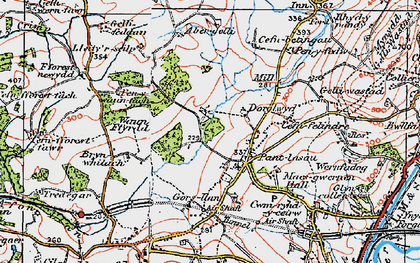 Old map of Abergelli Fm in 1923