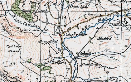 Old map of Lingen in 1922