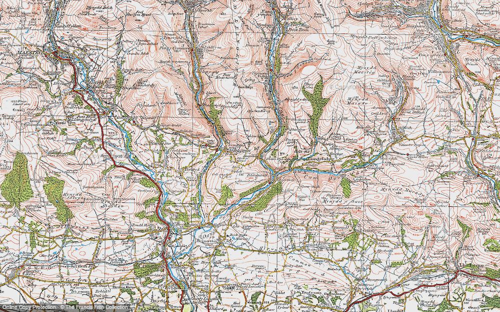 Old Map of Pant-yr-awel, 1922 in 1922