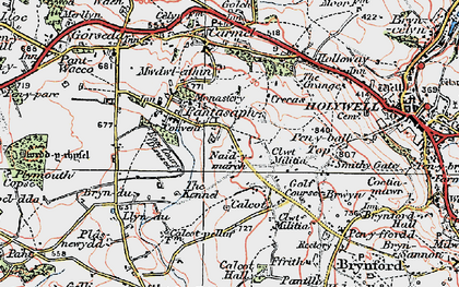 Old map of Pantasaph in 1924