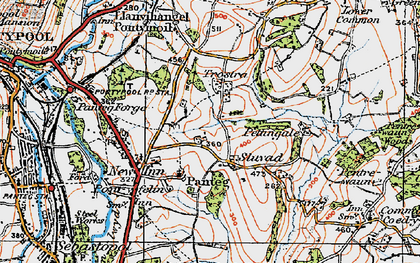 Old map of Panteg in 1919