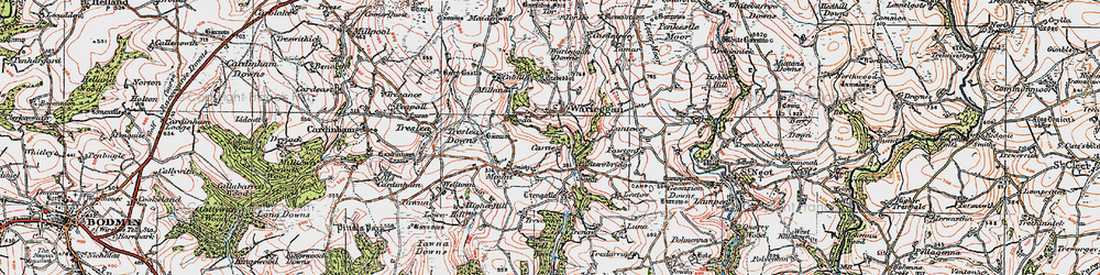 Old map of Yetta in 1919