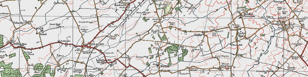 Old map of Wire Hill in 1923