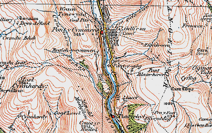 Old map of Yr Hyl in 1922