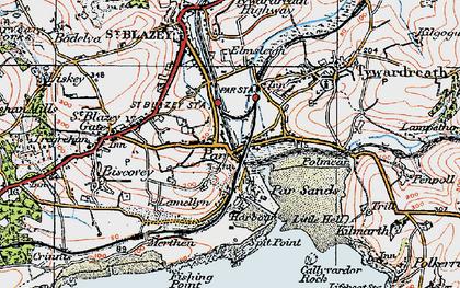 Old map of Par in 1919