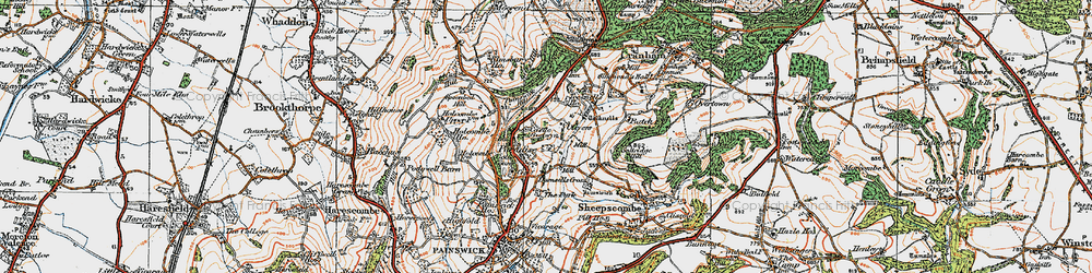 Old map of Tocknells Court in 1919