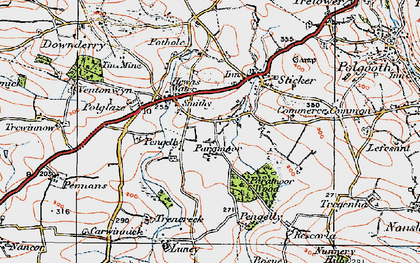 Old map of Paramoor in 1919