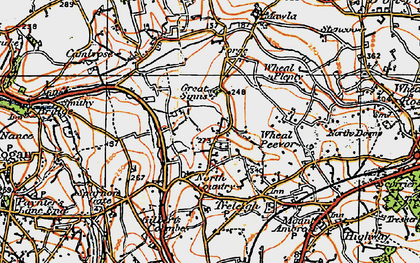 Old map of Parc Erissey in 1919