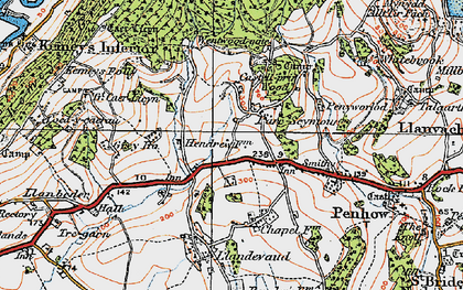 Old map of Parc-Seymour in 1919