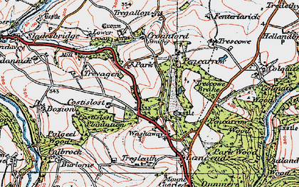 Old map of Park in 1919