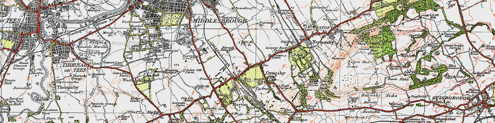 Old map of Park End in 1925