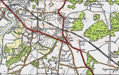 Old map of Park Gate in 1919