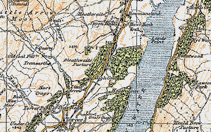 Old map of Park Gate in 1925