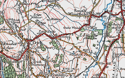 Old map of Park Head in 1923